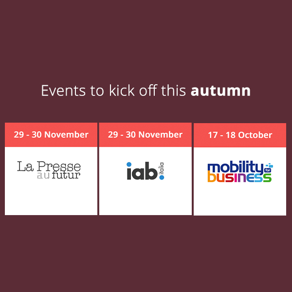 Our various events – register and catch us there!