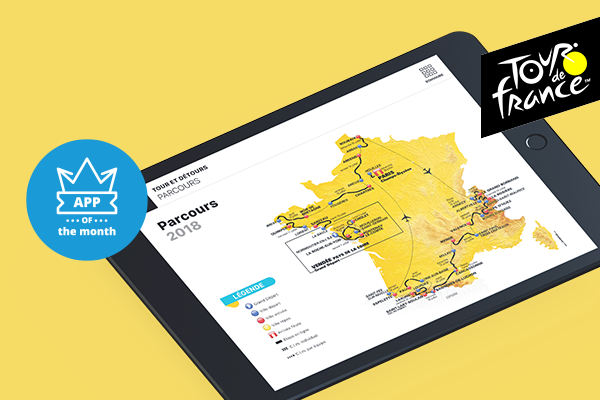 A dedicated tablet app to improve the management of the world leading cycle race